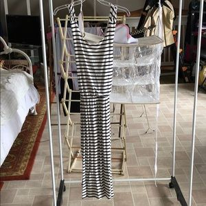 Navy Blue/White striped tank dress, NEVER WORN